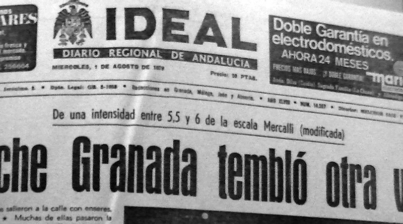 terremotos en Granada portada ideal 1979